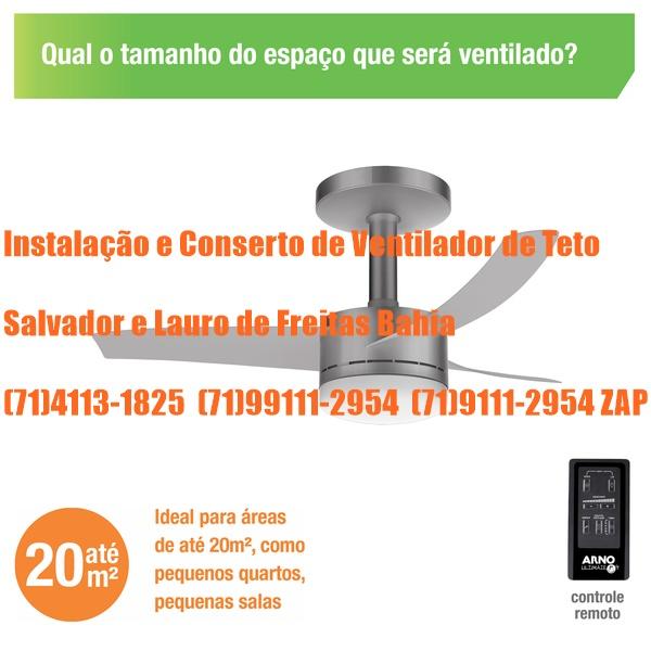 Instalação de Ventilador de Teto Arno Ultimate em Salvador-BA (71) 99111-2954