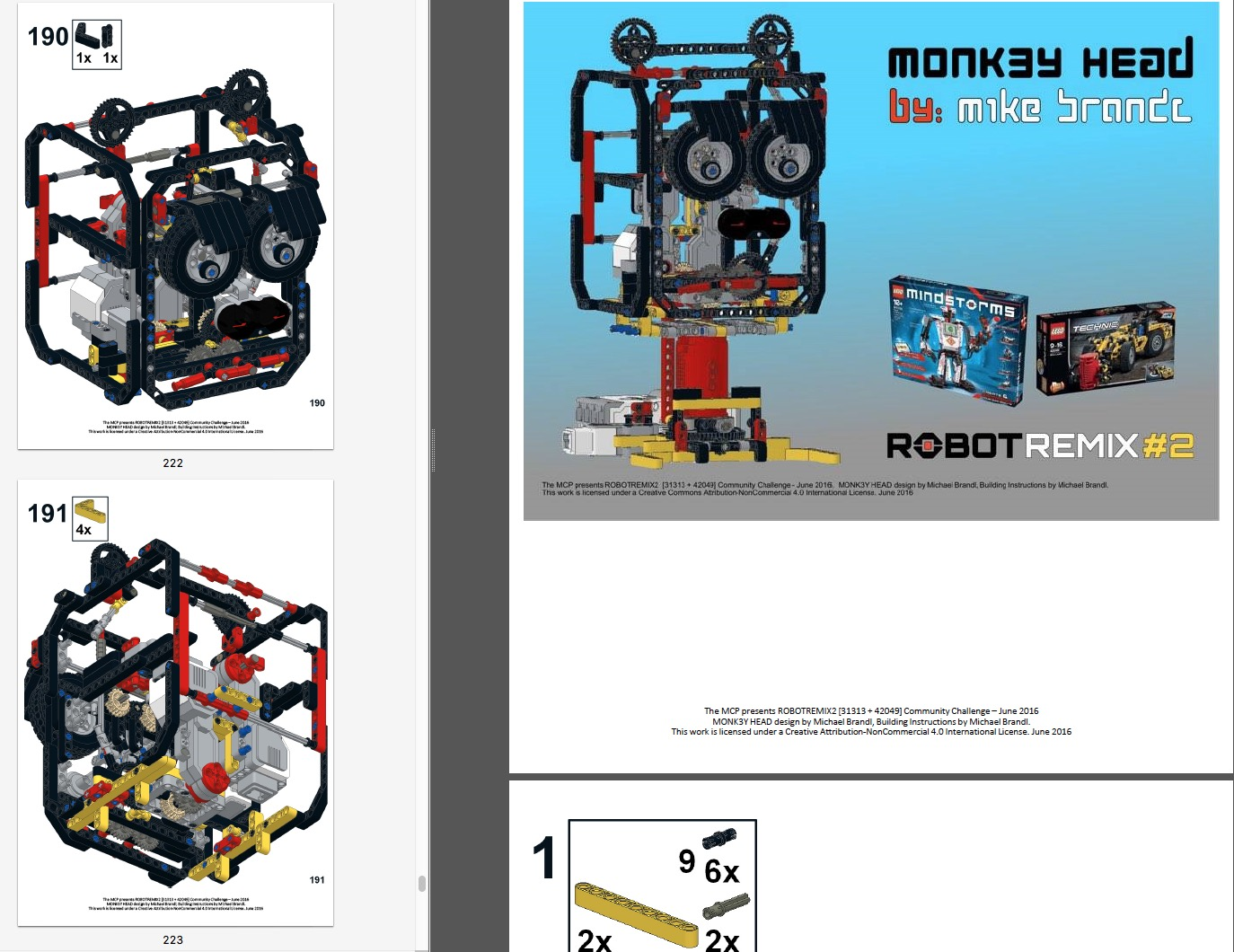 ROBOTREMIX2 - BUILDING INSTRUCTIONS 1 of 4 - MONK3Y HEAD | The NXT
