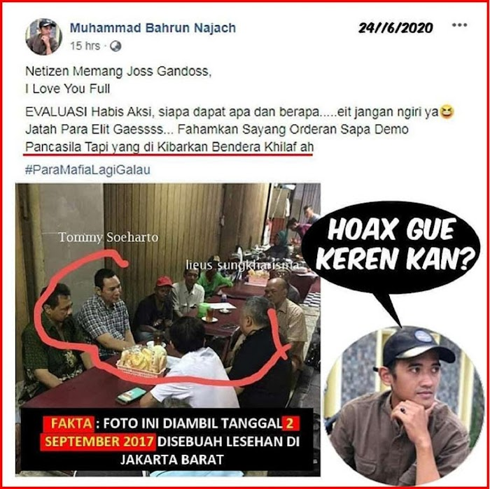 Buzzer Pendukung Pemerintah Sebar HOAX Demo Tolak RUU HIP Dipesan Tommy Soeharto, Padahal Foto 2017