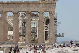 Parthenon Construction Athens Greece