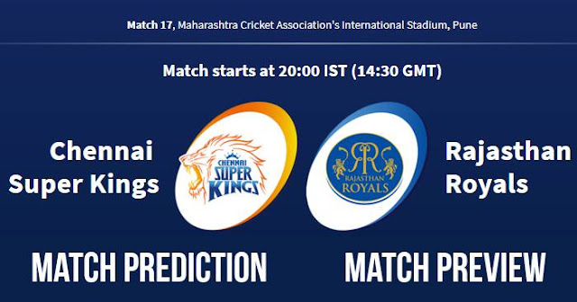IPL 2018 Match 17 CSK vs RR Match Prediction, Preview and Head to Head: Who Will Win?