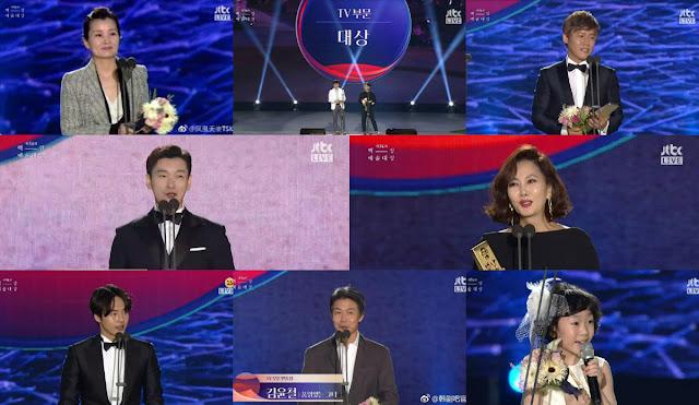 有線電視台tvN JTBC橫掃《第54屆百想藝術大賞》 無線台黯淡無光