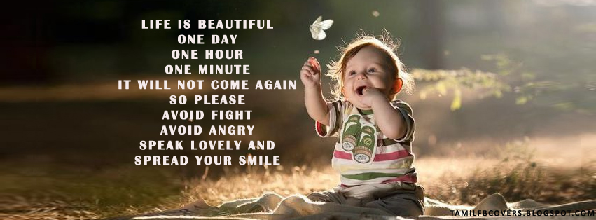 My India FB Covers: Life is beautiful - Life Quotes FB Cover