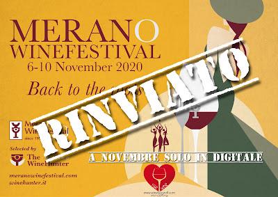 MERANO WINE FESTIVAL RINVIATO COVID