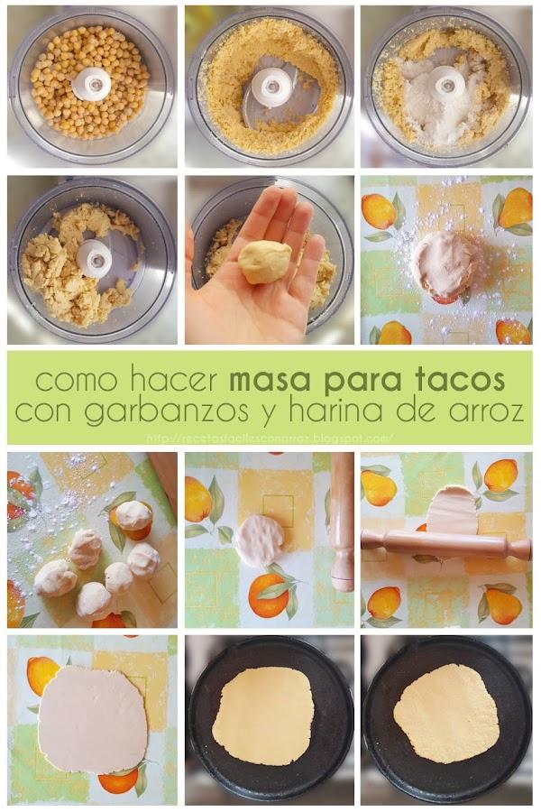 masa tacos sin gluten fototutorial
