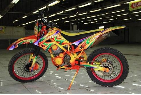2019 Modifikasi Motor Kawasaki Klx Terkeren Pecinta Modifikasi