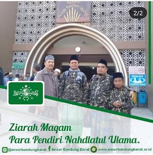 Sukses Susbalan Banser, Ansor KBB Ziarah ke Makam Mbah Hasyim Asy'ari