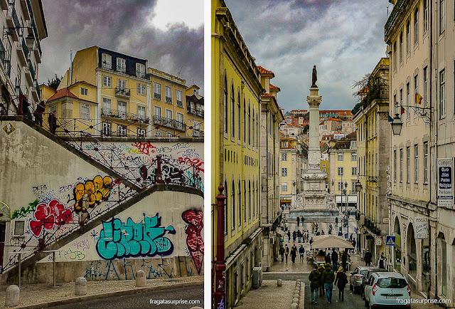 Calçada do Carmo, acesso ao Convento do Carmo de Lisboa