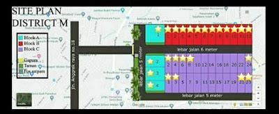 Site Plan Rumah Murah Tanpa DP - Tanpa Bunga - Tanpa BI Checking - Simpang Selayang Medan | District M