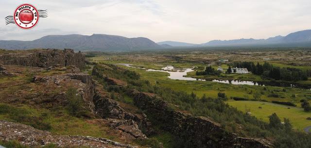 Vistas desde el mirador de Hakið en Þingvellir