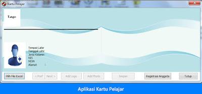 Fitur Edit Untuk Pembuatan Kartu Pelajar Dakam Bentuk Aplikasi