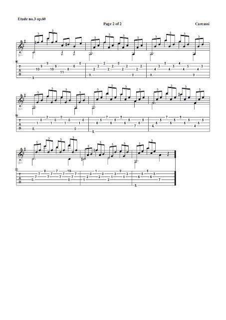 Guitarra Etude n.3 op.60