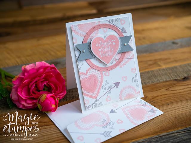 Un sketch, deux cartes amour-amitié Stampin' Up! avec le lot Sincèrement