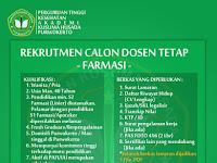 Lowongan Dosen Farmasi Akademi Kusuma Husada Purwokerto