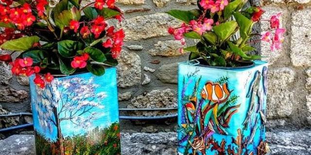 Τενεκέδες από φέτα μετατρέπονται σε έργα τέχνης