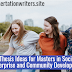 Thesis Ideas for Masters in Social Enterprise and Community Development
