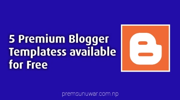 5+ Premium Blogger Templates for Free 2020 in hindi