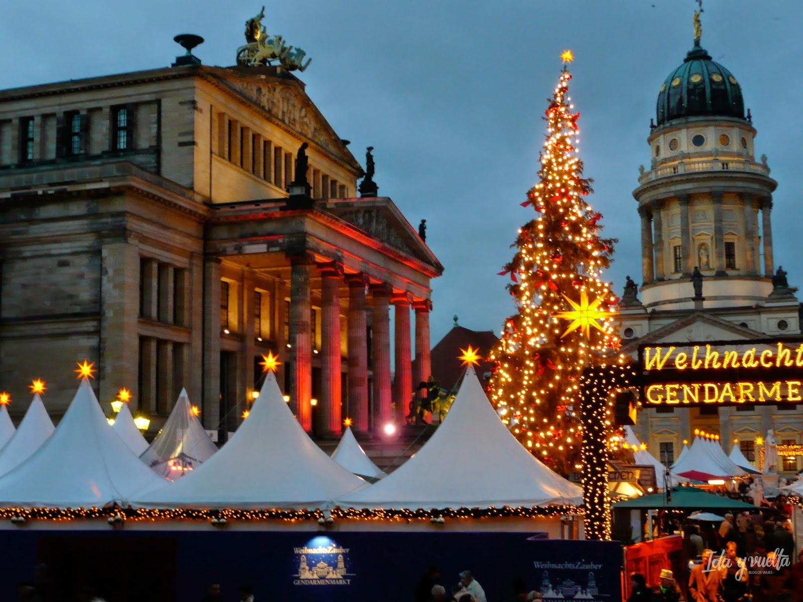 Gendarmenmarktplatz en Navidad