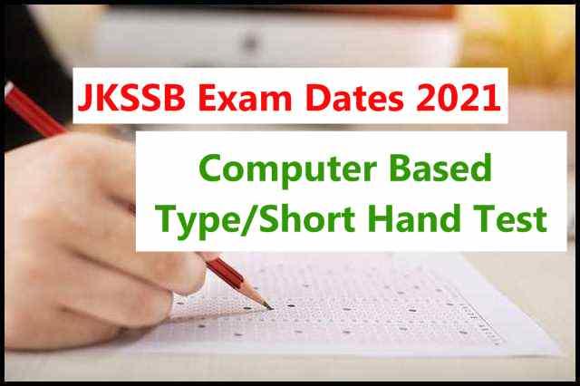 JKSSB CBT Dates