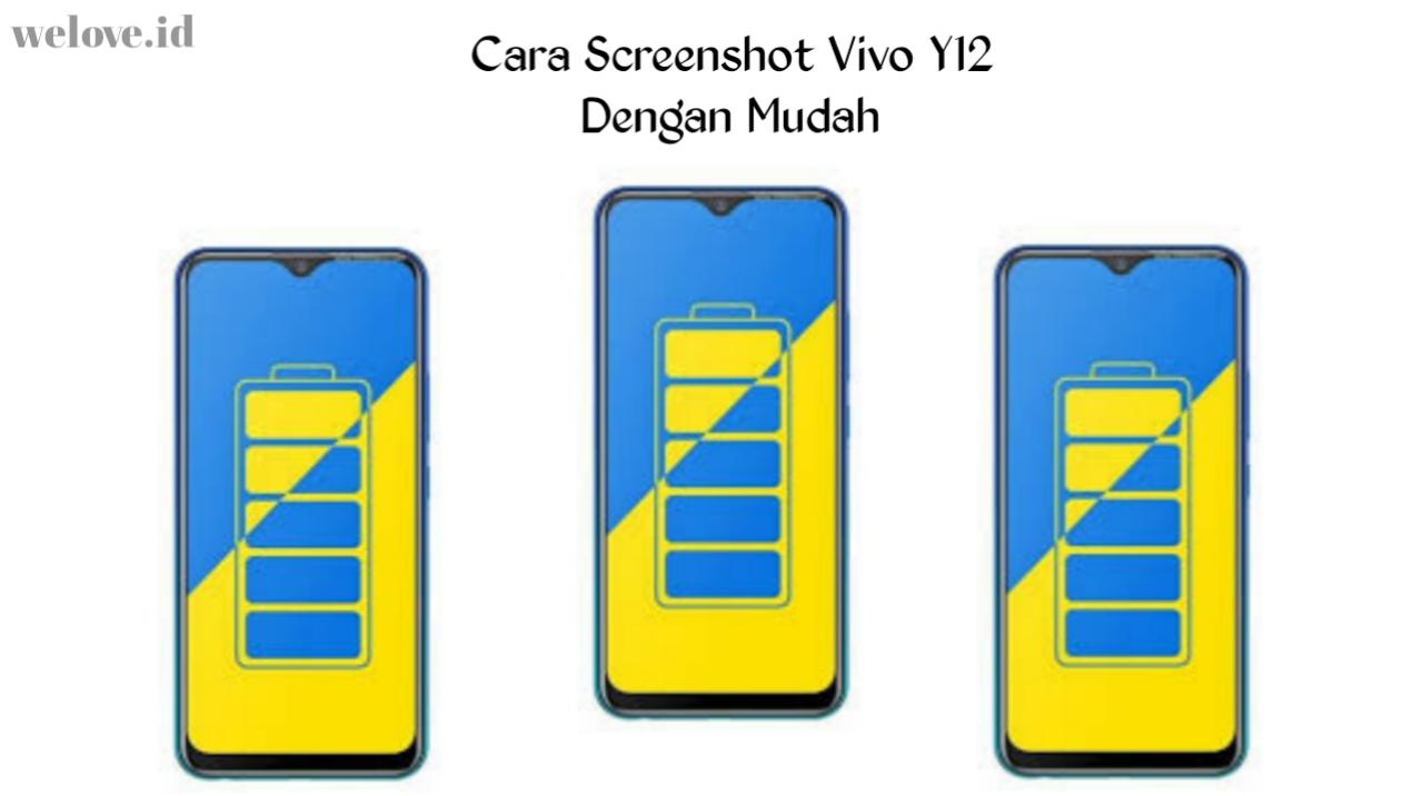 Cara Screenshot di HP Vivo Y12 dengan Mudah