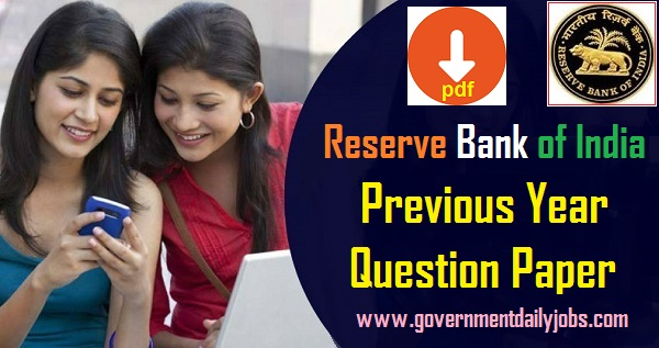 RBI Question Paper (With Solutions)