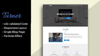 Turner - Personal Portfolio HTML Template