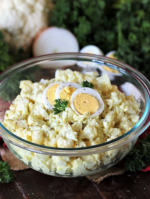 "DINNER Bowl of Cauliflower Mock ""Potato"" Salad Image"
