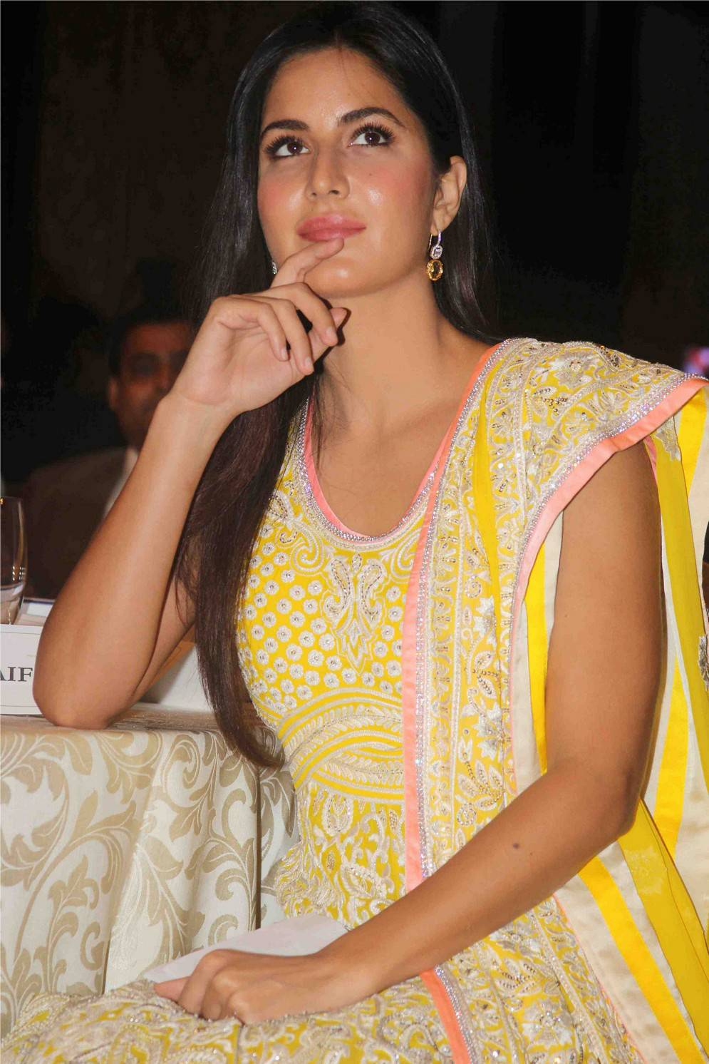 Katrina Kaif In Yellow Dress At WeUnite conference