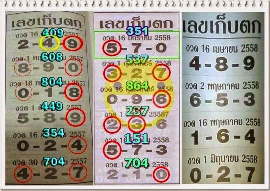 เลขเด็ด เลขเก็บตก,หวยซองงวดนี้,ข่าวหวยงวดนี้,หวยเด็ดงวดนี้,เลขเด็ดงวดนี้, 16/04/58 เมษายน