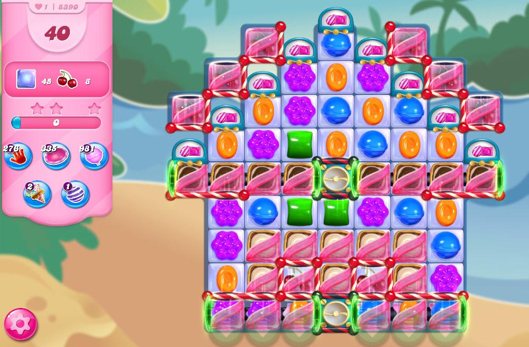 Candy Crush Saga level 8376-8390