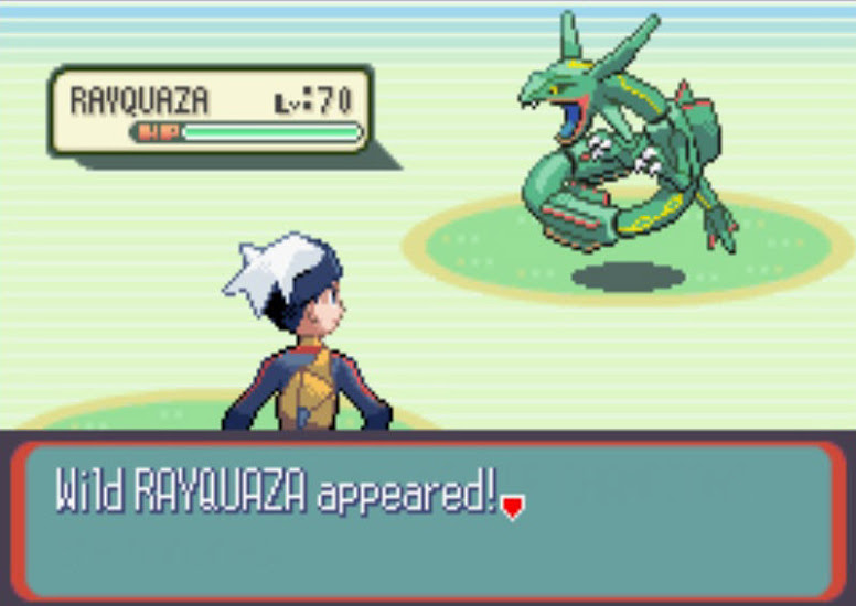 Pokémon Ruby e Sapphire Rayquaza