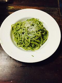 Pasta Spaghetti Portulak Pesto Postelein