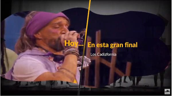 """Pasodoble con LETRA """"Hoy es la gran final"""". Chirigota """"Los Cadizfornia"""" de Vera Luque"""