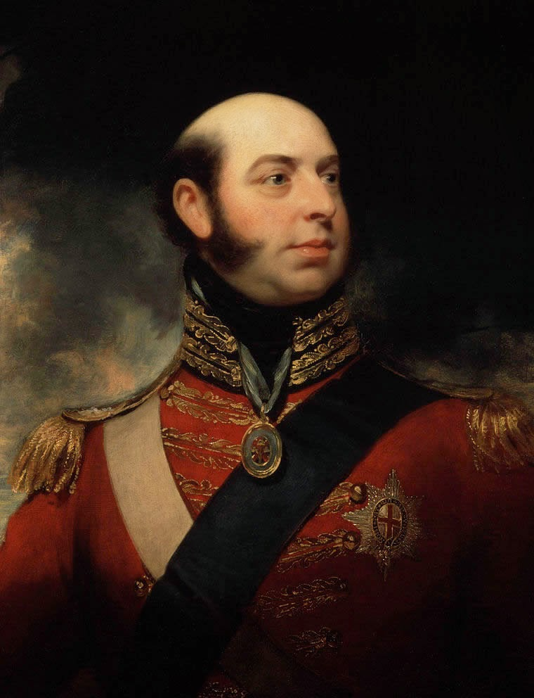 Prince Edward Augustus, the duke of Kent and Strathearn, the father of Queen Victoria