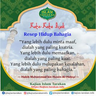 Resep Hidup Bahagia - Qoutes Kajian Islam Tarakan