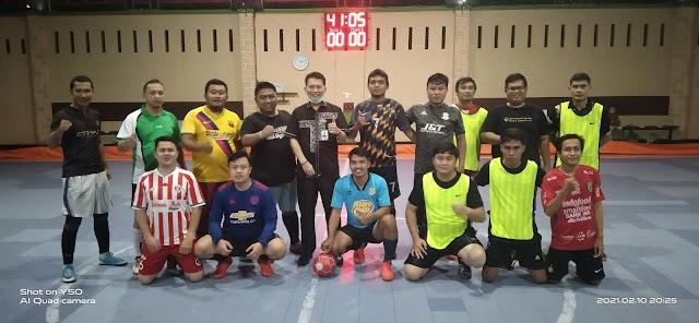 Perkuat Silaturahmi, Futsal Bank Bengkulu Adu Skill Tim PWI Bengkulu