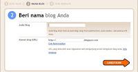 mengisi nama blog anda di blogger