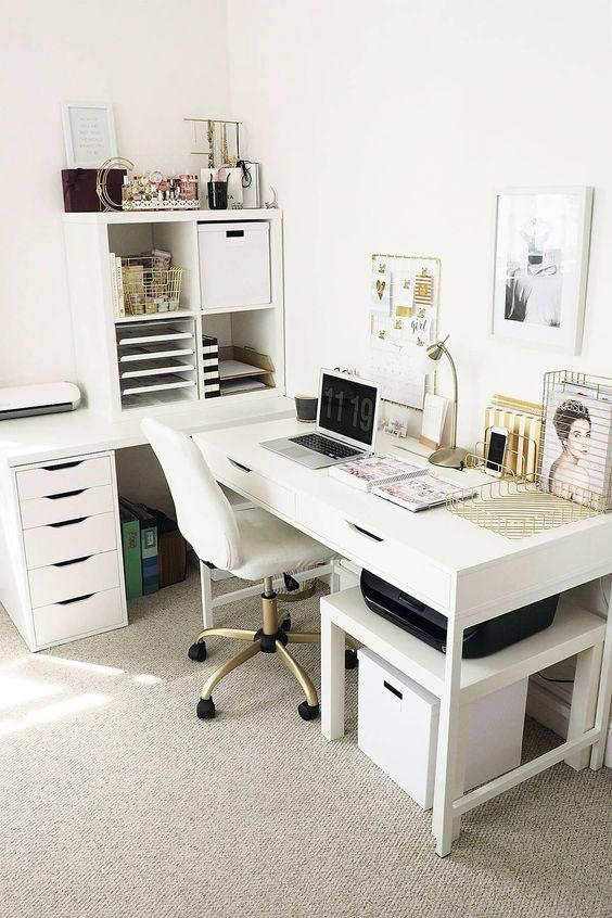 aranżacja wnętrz, biuro, dom, fotel biurowy, gabinet, home office, Malodesign, meble biurowe, miejsce do pracy w domu, praca zdalna, urządzanie wnętrz, wnętrza, wyposażenie wnętrz,