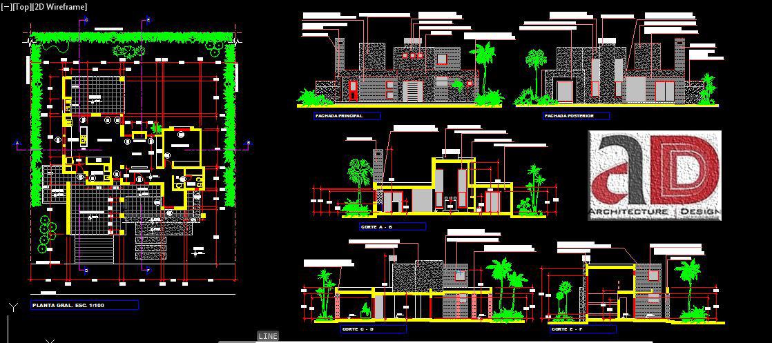 Modern Houses Design Dwg Format
