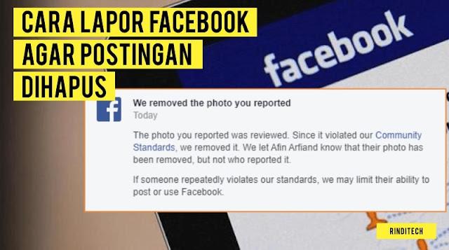 Cara Melaporkan Postingan Facebook agar Dihapus