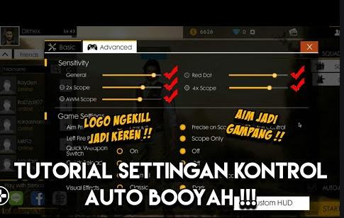 cara setting kontrol auto aim headshot free fire untuk android terbaik