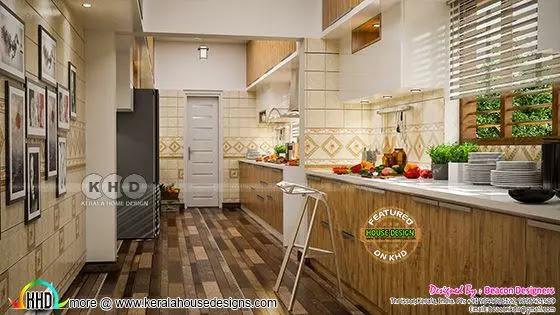 White kitchen interior view 2