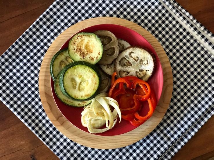 Verduras con salsa de mango y curry