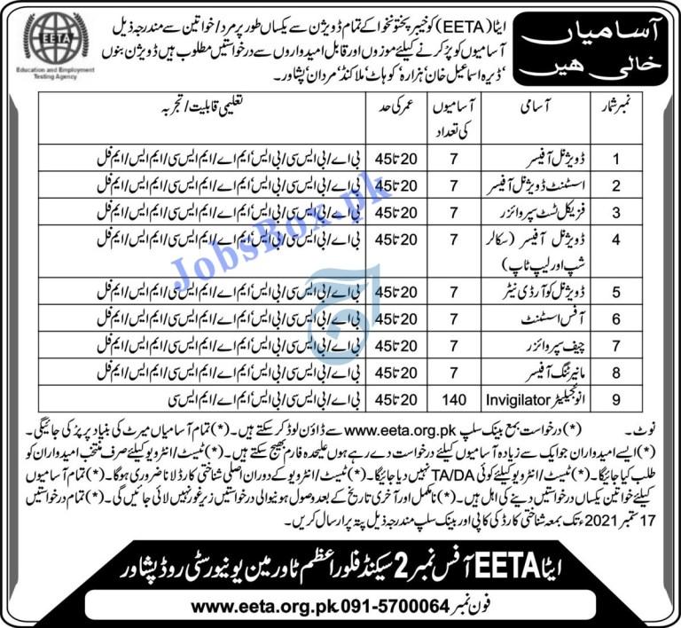 www.eeta.org.pk - EETA Education and Employment Testing Agency Jobs 2021 in Pakistan