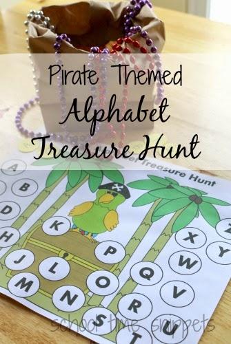 printable alphabet treasure hunt for kids