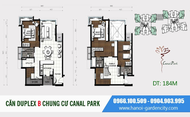 chung cư Long Biên Canal Park bàn giao full nội thất