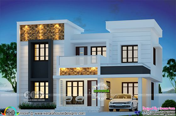 4 bedroom 1748 sq-ft modern home design