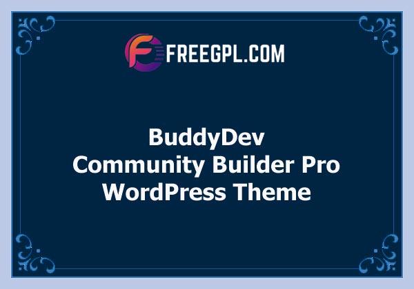 BuddyDev Community Builder Pro Theme Free Download