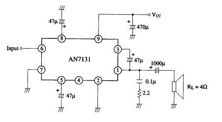 5 watt audio amplifier circuit ~ AmplifierCircuits.com