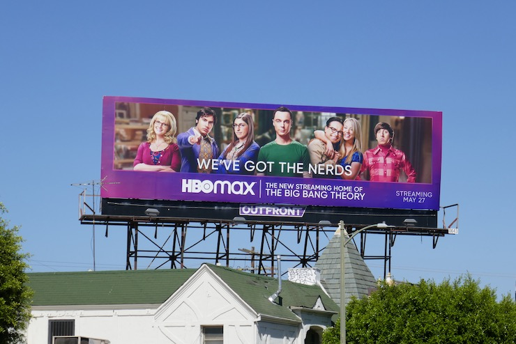 nerds Big Bang Theory HBO Max billboard